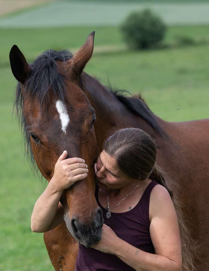 Jeanette Karlen mit Pferd